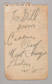 View Autograph written by Cassius Clay digital asset number 0