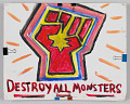 """View Sign with """"Destroy All Monsters"""" used in the Unite the Right counter-protest digital asset number 0"""