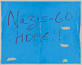 """View Sign with """"Nazis- Go Home!!"""" used in the Unite the Right counter-protest digital asset number 0"""