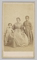 View Carte-de-visite of a young woman and two children digital asset number 0