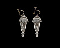 View Silverplate earrings designed by Winifred Mason Chenet digital asset number 0