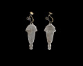 View Silverplate earrings designed by Winifred Mason Chenet digital asset number 1