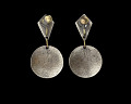 View Silver earrings with Vodou veve designed by Winifred Mason Chenet digital asset number 1