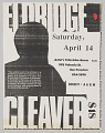 View Flier for an African American Resource Machine benefit with Eldridge Cleaver digital asset number 0