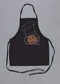 """View Black apron with """"This Sista Can Cook"""" by Happy I'm Nappy Collectibles digital asset number 0"""