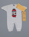 View White watermelon juice onesie by Happy I'm Nappy Collectibles digital asset number 2