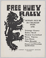 View Poster for a rally in support of Huey Newton digital asset number 0
