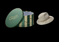 """View White hat and hat box used on the show """"Scandal"""" digital asset number 0"""