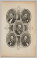 View Engraved portrait of five members of Reconstruction Congresses digital asset number 0