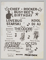 "View Flier for ""Chief Rocker Busy Bee's Birthday"" digital asset number 0"