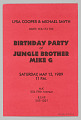 "View Flier for ""Birthday Party of Jungle Brother Mike G"" at M.K. digital asset number 1"