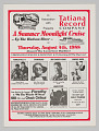 View Flier for Tatiana Record Company Summer Moonlight Cruise digital asset number 0