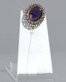 View Purple, gold, and rhinestone hat pin from Mae's Millinery Shop digital asset number 5