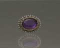 View Purple, gold, and rhinestone hat pin from Mae's Millinery Shop digital asset number 8