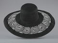 View Black and white sun hat from Mae's Millinery Shop digital asset number 3