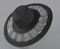 View Black and white sun hat from Mae's Millinery Shop digital asset number 5