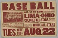 View Poster for a game between the Lima-Ohio Colored All Stars and the White All Star digital asset number 0