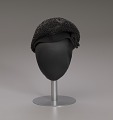 View Black beret with beaded details from Mae's Millinery Shop digital asset number 7