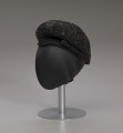 View Black beret with beaded details from Mae's Millinery Shop digital asset number 9