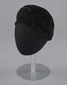 View Black beret with beaded details from Mae's Millinery Shop digital asset number 0