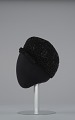 View Black beret with beaded details from Mae's Millinery Shop digital asset number 2