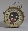 View Drum hand-painted depicting caricatures of nine male faces digital asset number 0