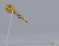View Hatpin with amber and gold decorations from Mae's Millinery Shop digital asset number 2