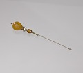 View Hatpin with amber and gold decorations from Mae's Millinery Shop digital asset number 0