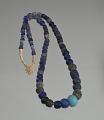 View Cobalt blue European glass trade beads digital asset number 2