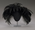 View Black feathered fascinator from Mae's Millinery Shop digital asset number 7