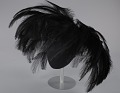 View Black feathered fascinator from Mae's Millinery Shop digital asset number 0