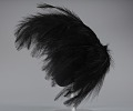 View Black feathered fascinator from Mae's Millinery Shop digital asset number 2