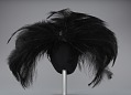 View Black feathered fascinator from Mae's Millinery Shop digital asset number 3