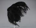 View Black feathered fascinator from Mae's Millinery Shop digital asset number 4