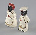 """View Pair of salt and pepper shakers in form of """"Mammy"""" and """"Chef"""" digital asset number 1"""