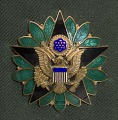 View US Army green service uniform jacket and service medals worn by Colin L. Powell digital asset number 6