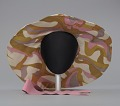 View Wide brimmed slouch hat with pink ribbon from Mae's Millinery Shop digital asset number 2