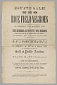 """View Broadside for an estate sale of """"229 Rice Field Negroes"""" digital asset number 0"""