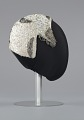 View Ivory cap with sequins and beading from Mae's Millinery Shop digital asset number 4