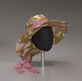 View Wide brimmed slouch hat with pink ribbon from Mae's Millinery Shop digital asset number 7