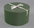 View Green circular hatbox with lid from Mae's Millinery Shop digital asset number 0