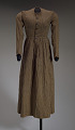 View Brown and cream striped day dress from the Civil War era digital asset number 0