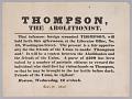 View Broadside calling for violence against abolitionist George Thompson digital asset number 0