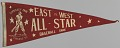 View Pennant from a Negro League East vs. West All-Star Game digital asset number 0