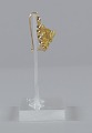 View Pair of tété négresse style gold earrings with yellow stones digital asset number 5