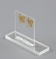 View Pair of tété négresse style gold earrings with yellow stones digital asset number 6