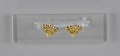 View Pair of tété négresse style gold earrings with yellow stones digital asset number 7