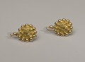 View Pair of tété négresse style gold earrings with yellow stones digital asset number 0