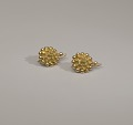 View Pair of tété négresse style gold earrings with yellow stones digital asset number 11