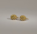 View Pair of tété négresse style gold earrings with yellow stones digital asset number 12